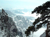 Mont.Huangshan enneigé